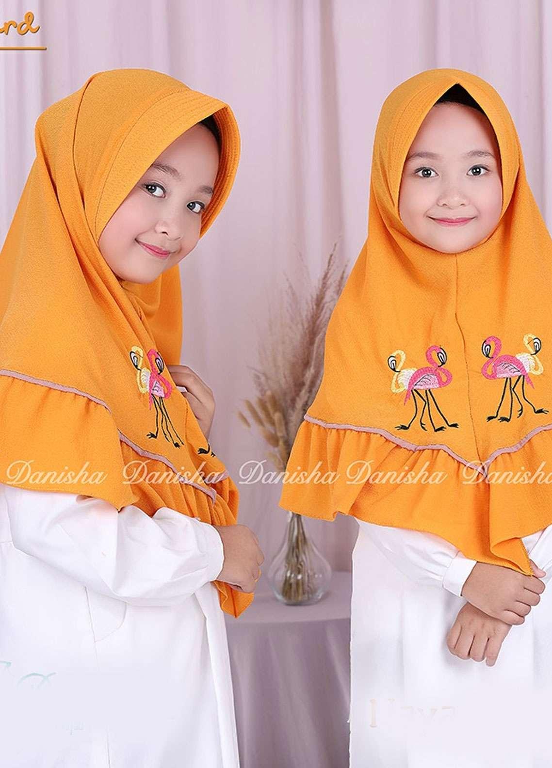 Danisha | Style of Hijab  Bubble Pop  Girls Scarves HH Danisha Flamingo 02 Mustard