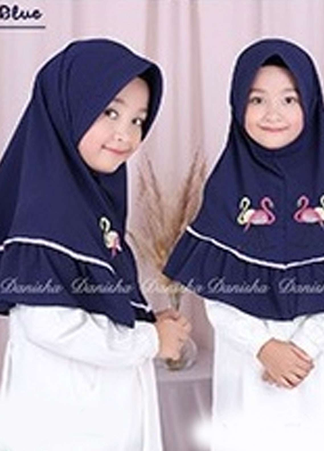 Danisha | Style of Hijab  Bubble Pop  Girls Scarves HH Danisha Flamingo 05 Navy Blue