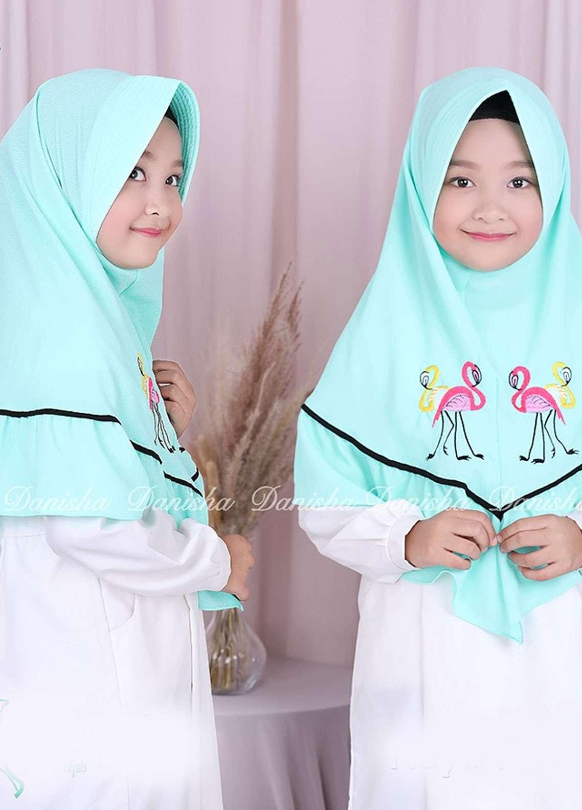Danisha | Style of Hijab  Bubble Pop  Girls Scarves HH Danisha Flamingo 08 Mint