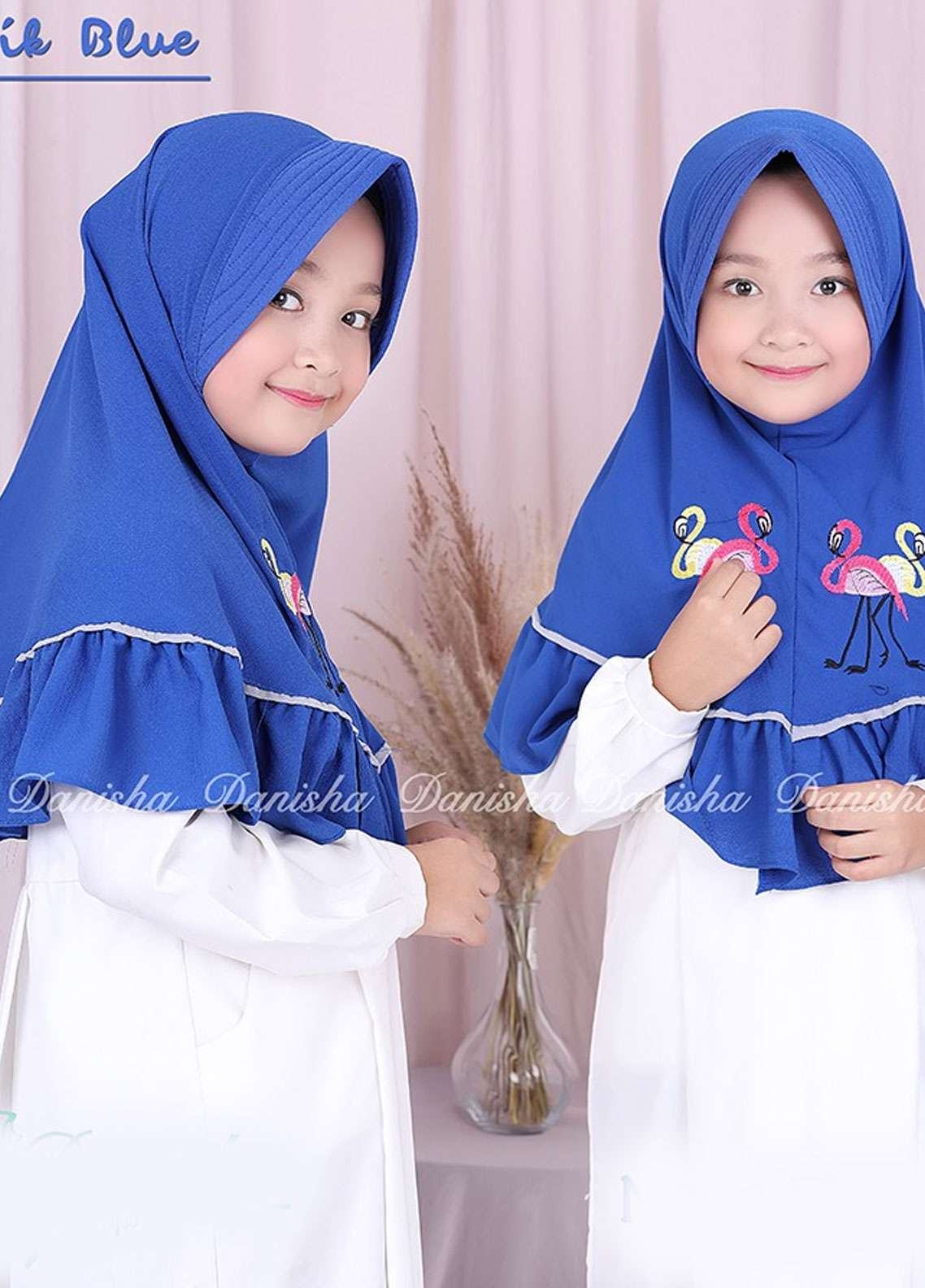 Danisha | Style of Hijab  Bubble Pop  Girls Scarves HH Danisha Flamingo 09 Blue