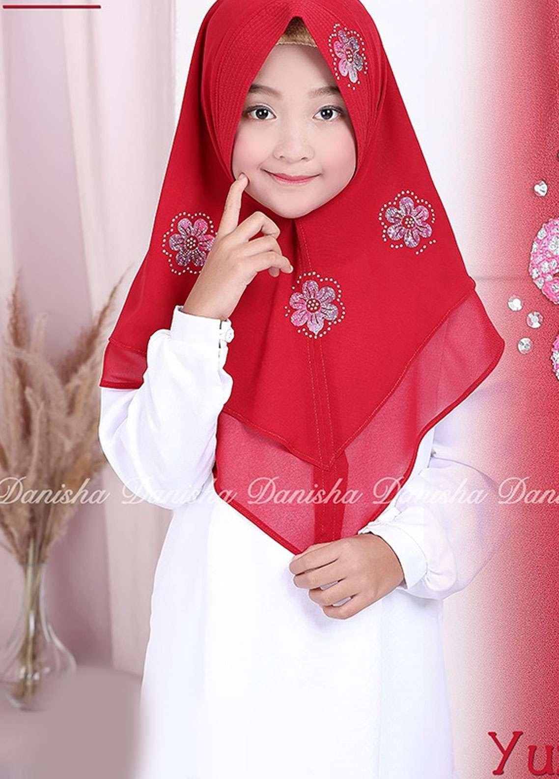 Danisha | Style of Hijab  Bubble Pop  Girls Scarves HH Danisha Yuzma 01 Red