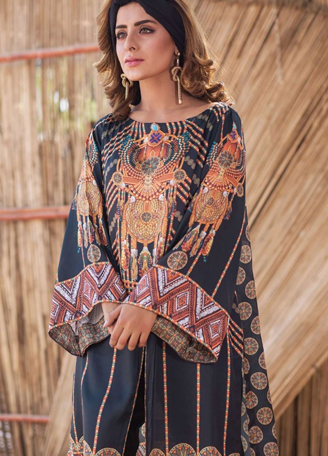 Fateh Printed Silk Unstitched Kurties Silk FS-01100 - Mid Summer Collection