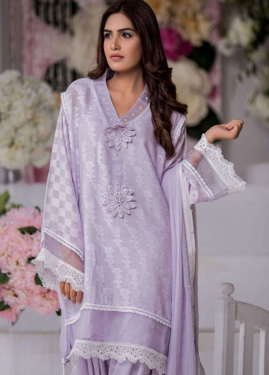 Chic Ophicial Embroidered Stitched 3 Piece Suit DAWN GLOW