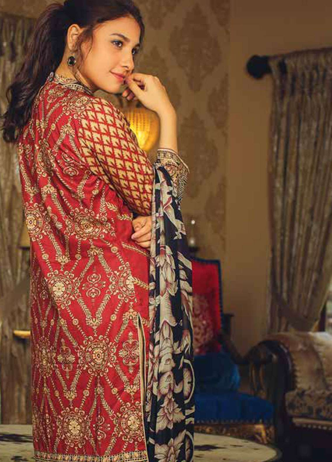 04430cefd8 Deeba Embroidered Lawn Unstitched 3 Piece Suit DB19L 02B - Spring / Summer  Collection