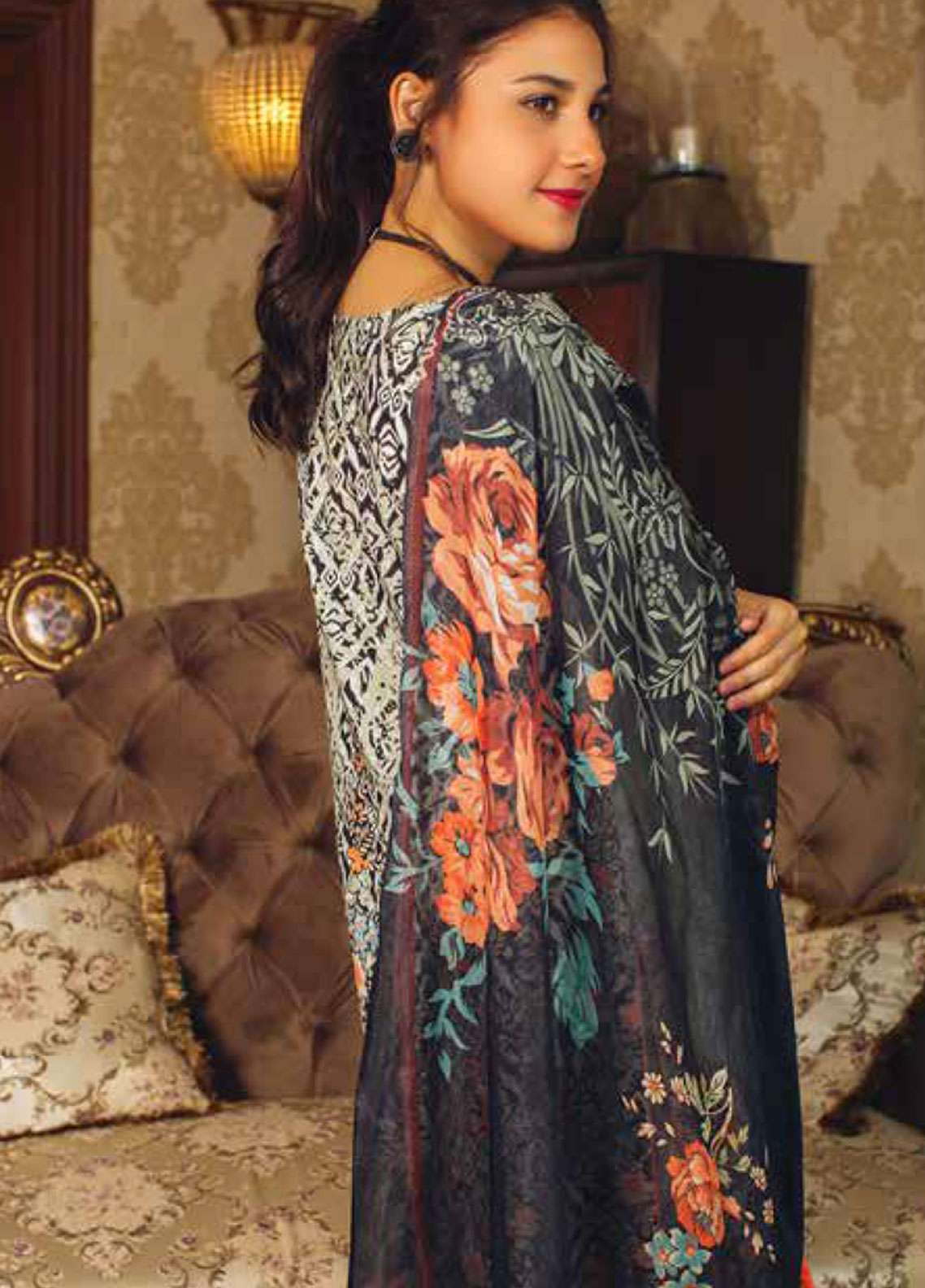 a76a16a021 Deeba Embroidered Lawn Unstitched 3 Piece Suit DB19L 04 - Spring / Summer  Collection