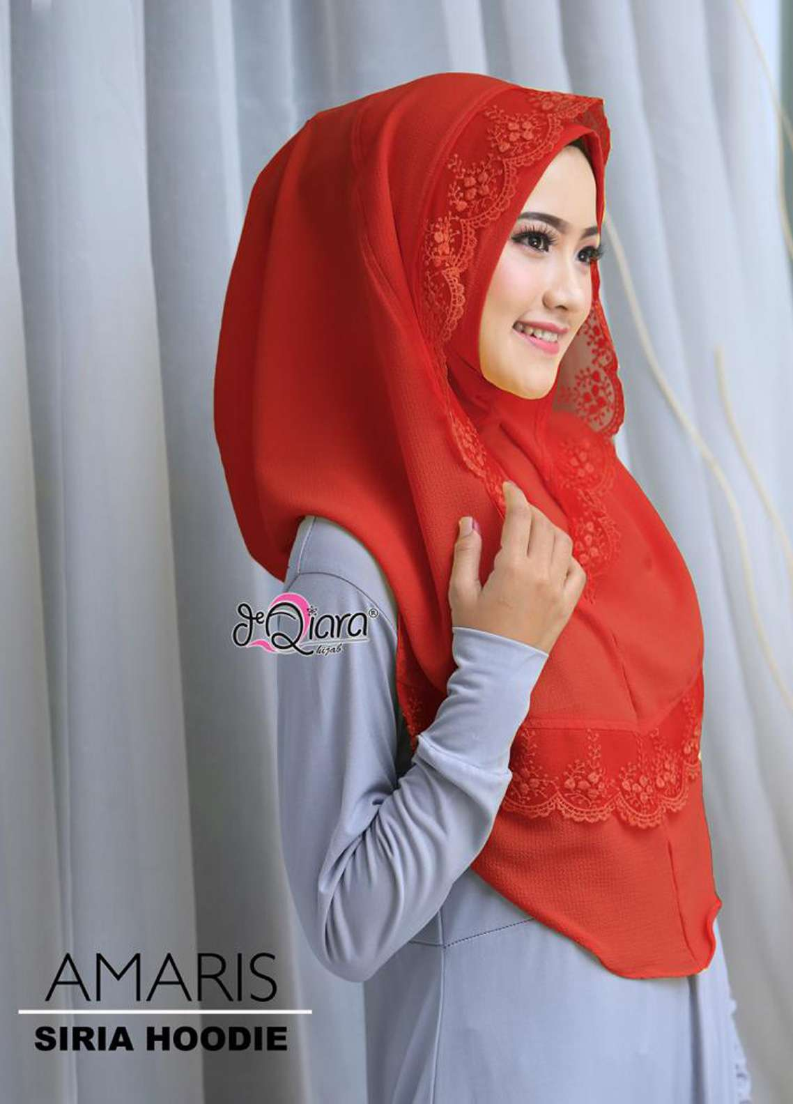 DeQiara  Bubble Pop  Ladies Scarves HH DeQiara Amaris 01 Red