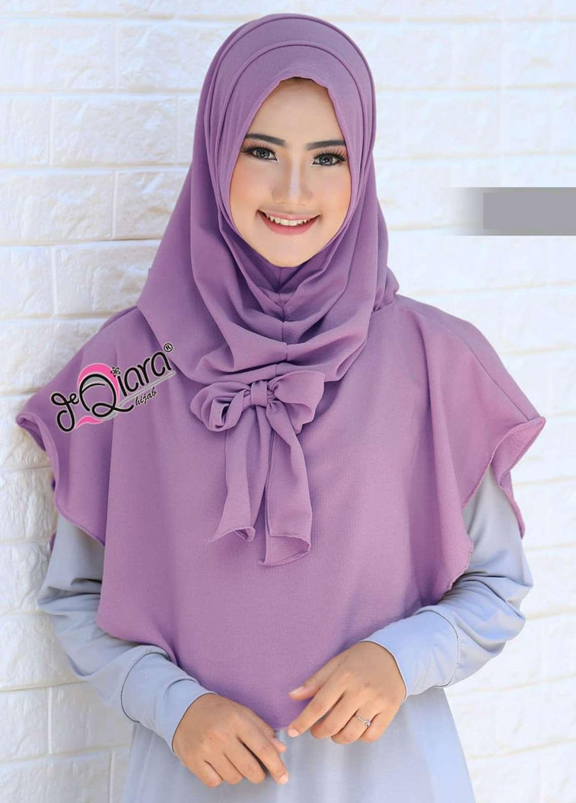 DeQiara  Bubble Pop  Ladies Scarves HH DeQiara Lipit 06  Purple