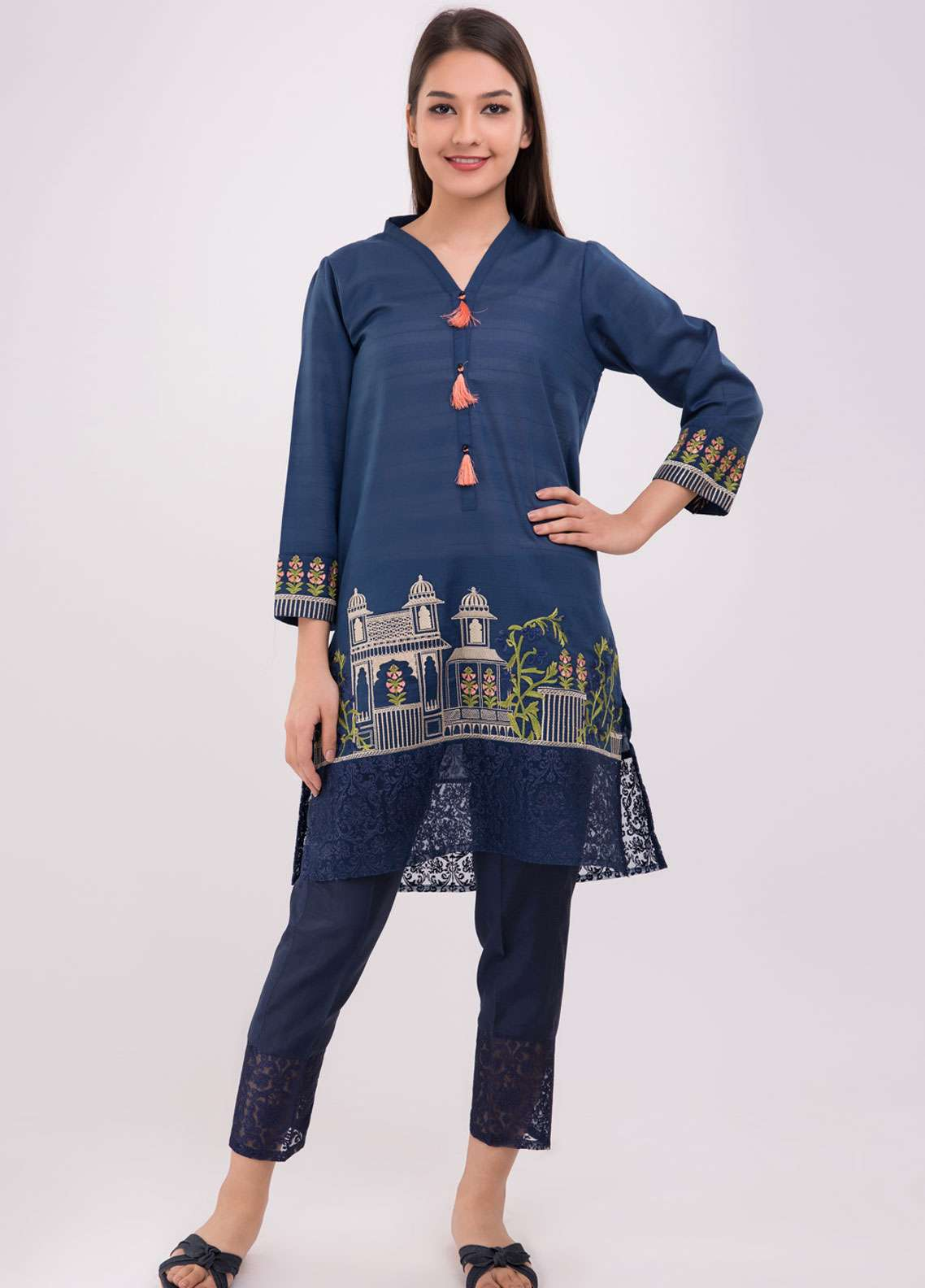 d4e2a32386 Dhanak Pret Kurtis for Women 2019 Collection - Buy Online | Sanaulla ...