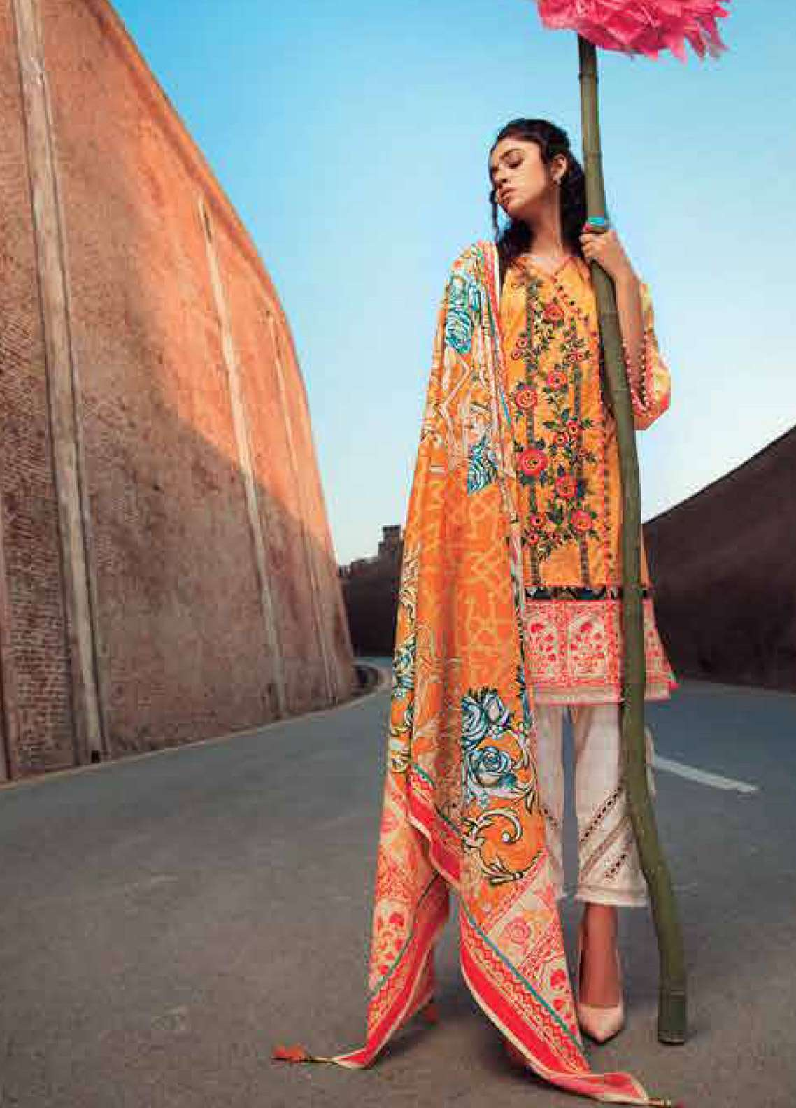 Edenrobe Embroidered Pima Cotton Unstitched 2 Piece Suit ED18-L2 19320 - Summer Collection