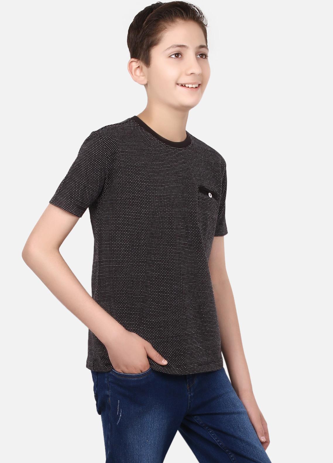 60caa85c6 Buy Edenrobe Cotton Half Sleeves Tees for Boys - Black EBTTS19-020 - Online  in Pakistan