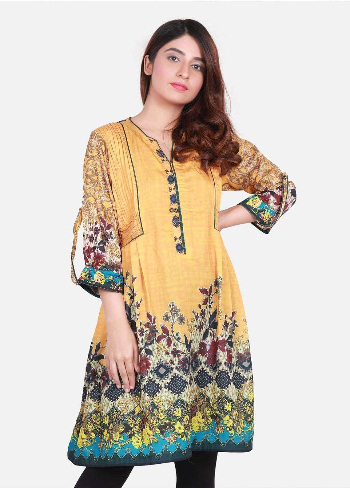 Edenrobe Fancy Style  Stitched Kurtis 066458