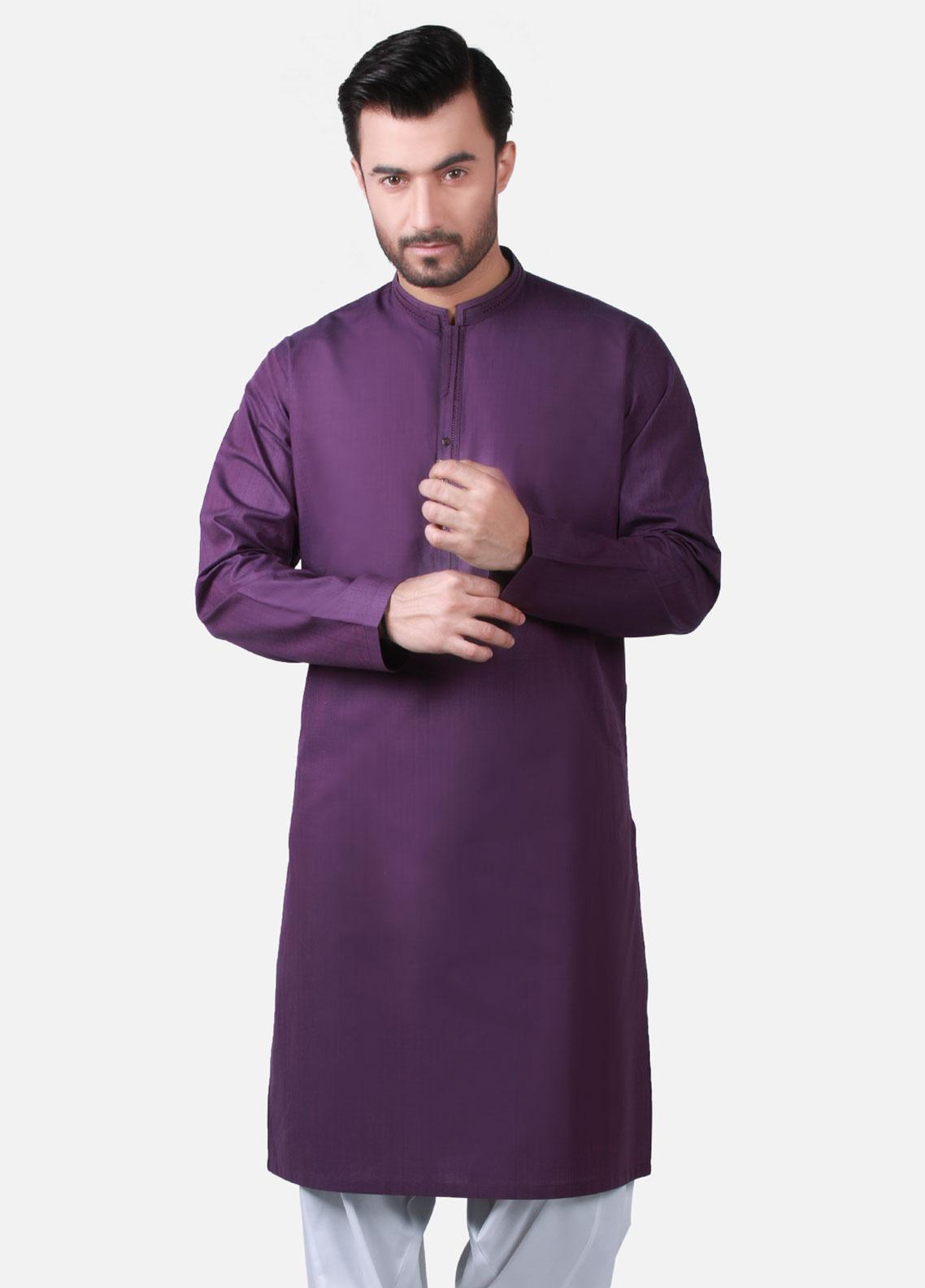 18900c5f Buy Edenrobe Cotton Formal Men Kurtas - Purple EMTK19S-9755- Online ...