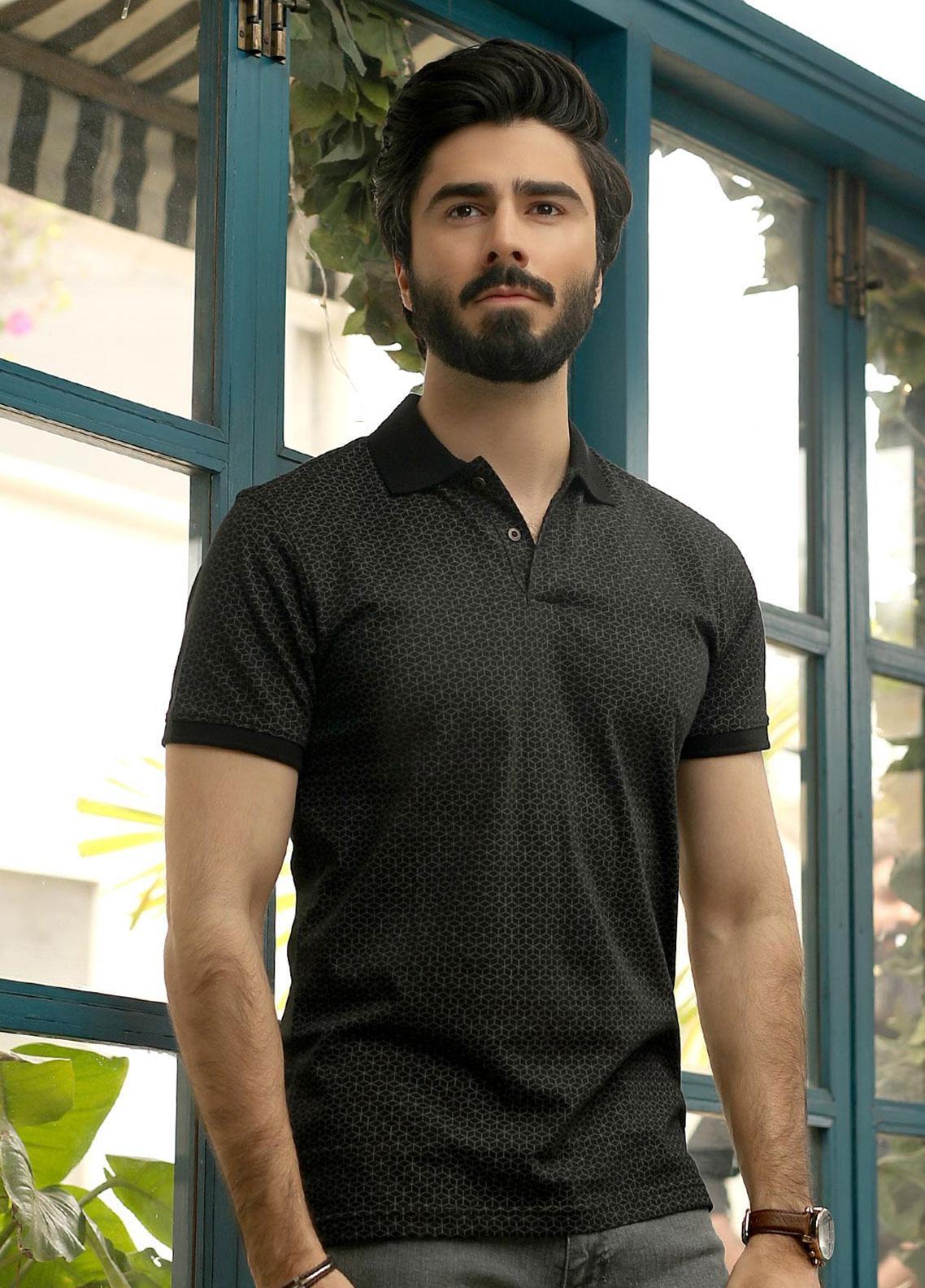 Edenrobe Cotton Polo Shirts for Men - Grey EMTPS19-003