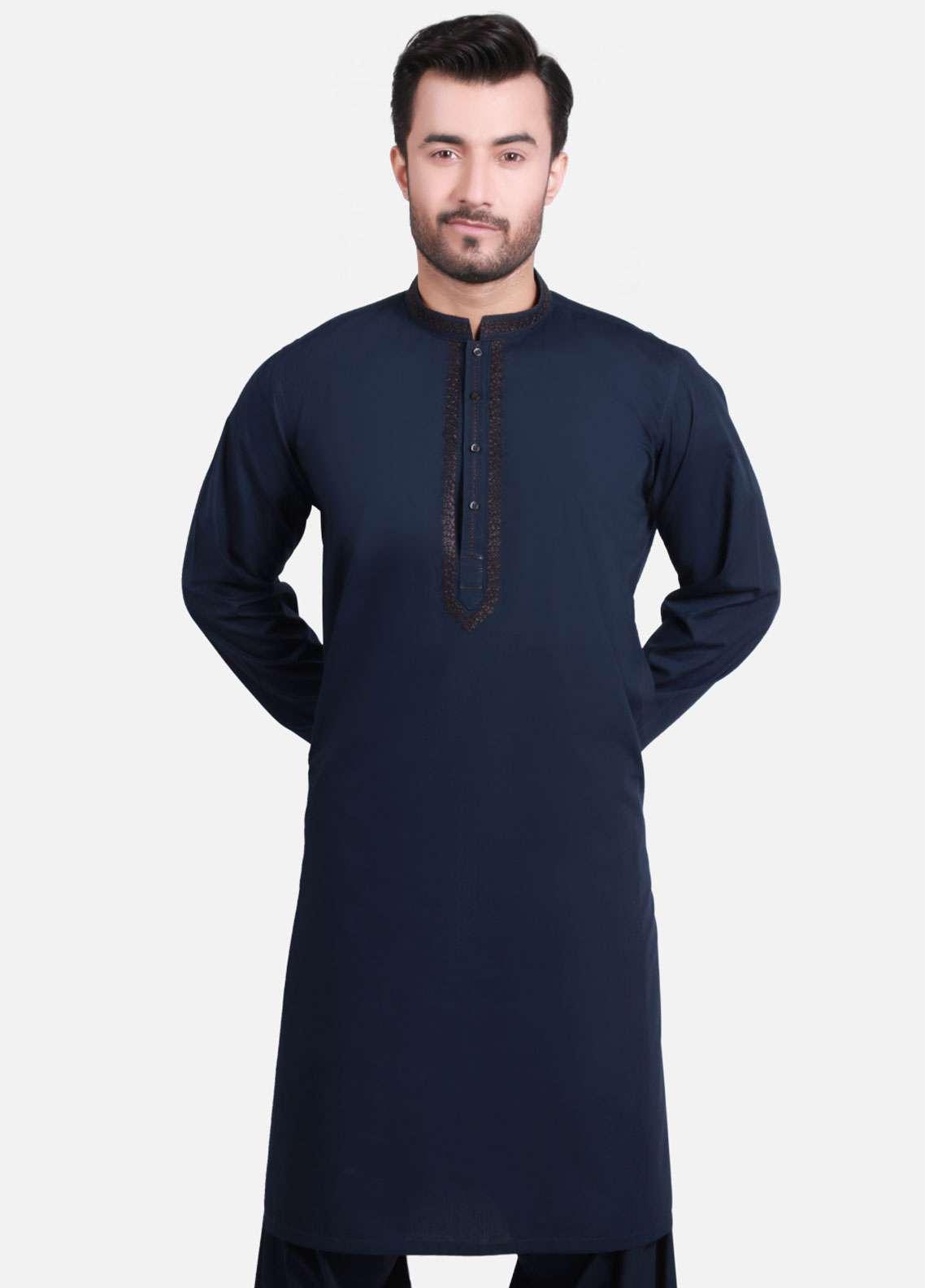 bc2707619d Buy Edenrobe Cotton Formal Men Kameez Shalwar - Navy Blue EMTKS-40728-  Online in Pakistan