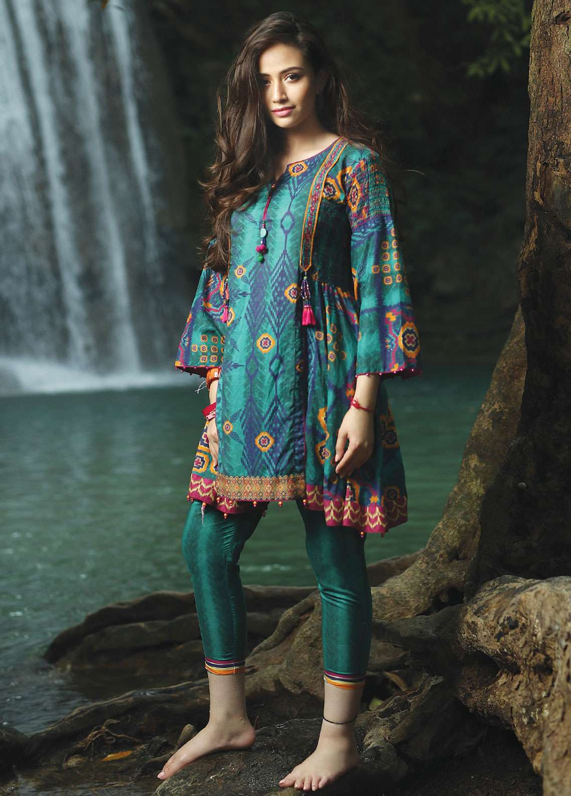 78b0bf891f Edenrobe Embroidered Lawn Unstitched 2 Piece Suit 019510 - Spring / Summer  Collection