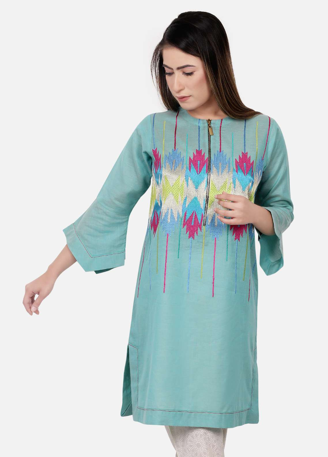Edenrobe Embroidered  Stitched Kurtis EDK18L 66366