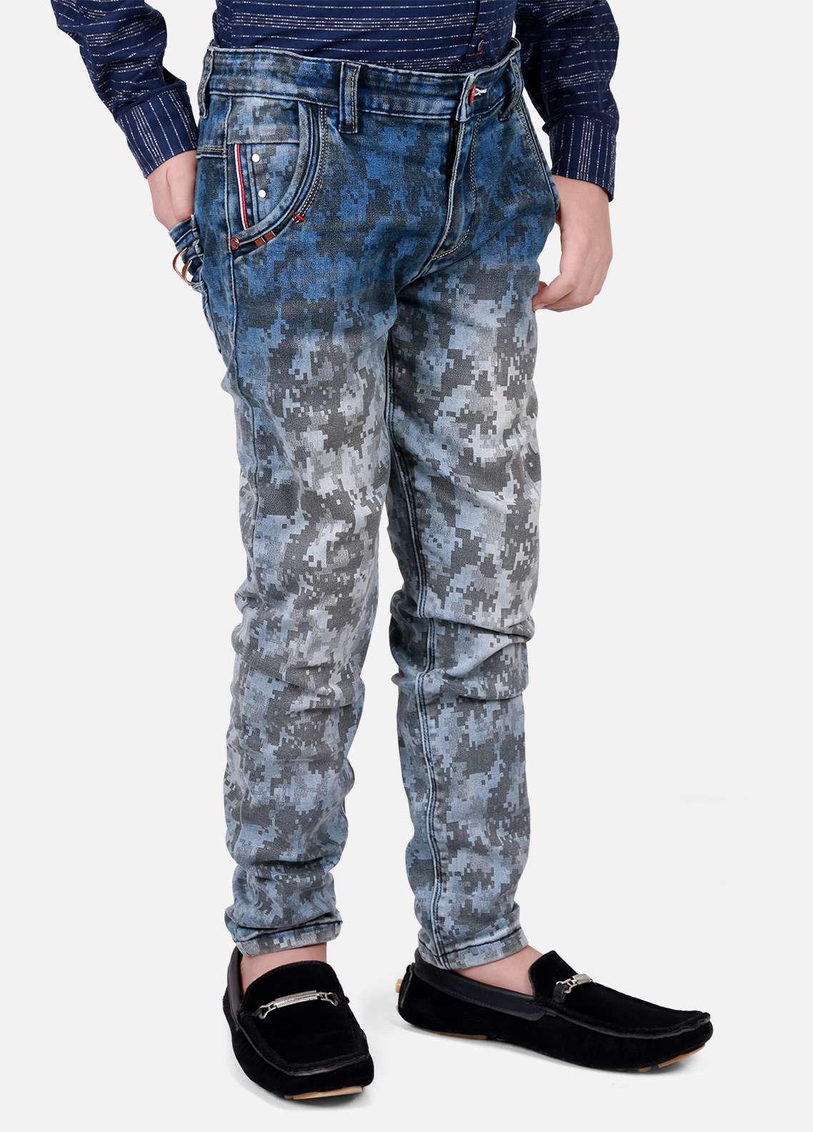 Edenrobe Jeans Faded Pants for Boys - Blue EDK18P 5709