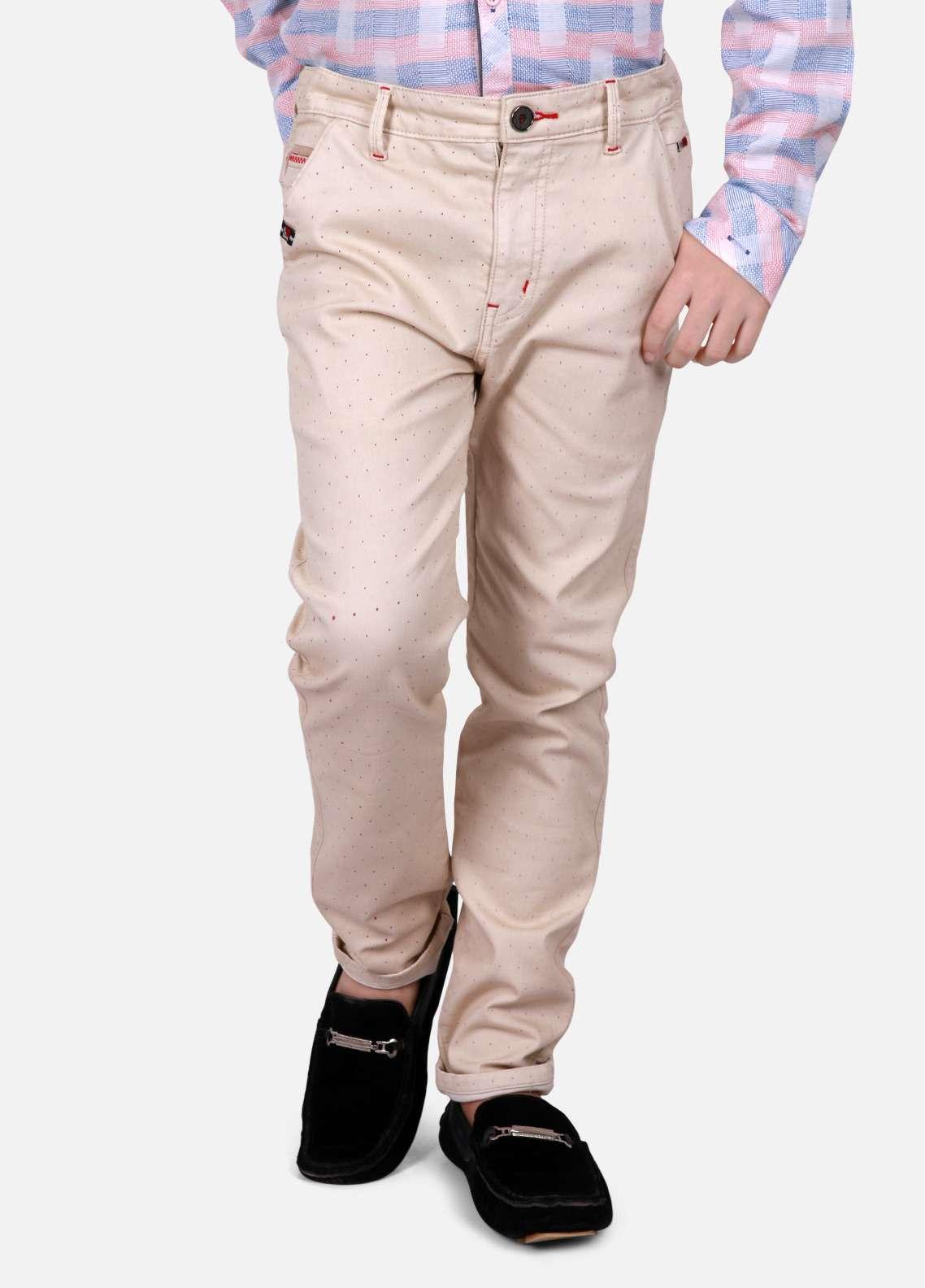 Edenrobe Cotton Plain Texture Pants for Boys - Beige EDK18P 5712