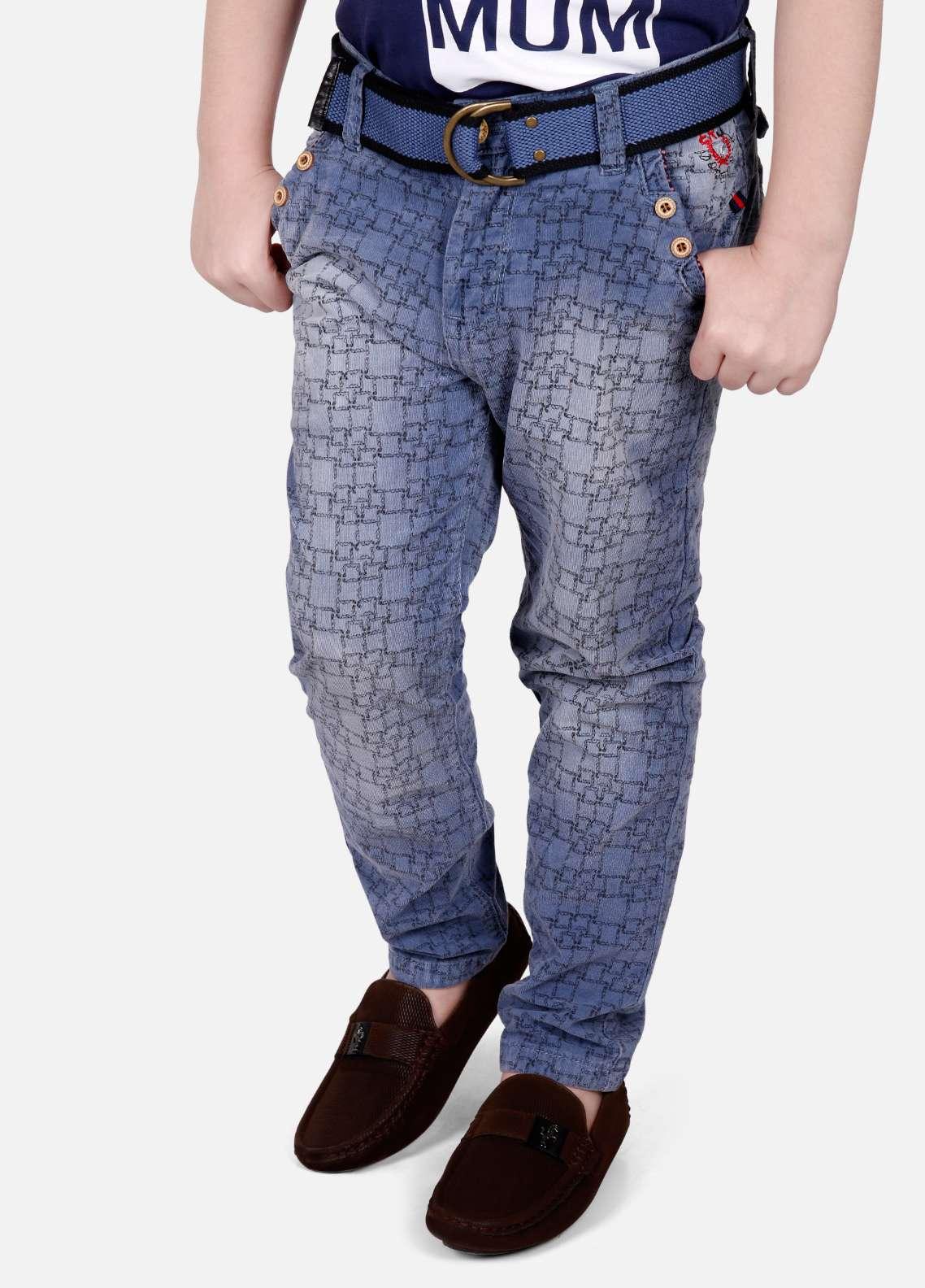 Edenrobe Jeans Faded Boys Pants - Blue EDK18P 5713
