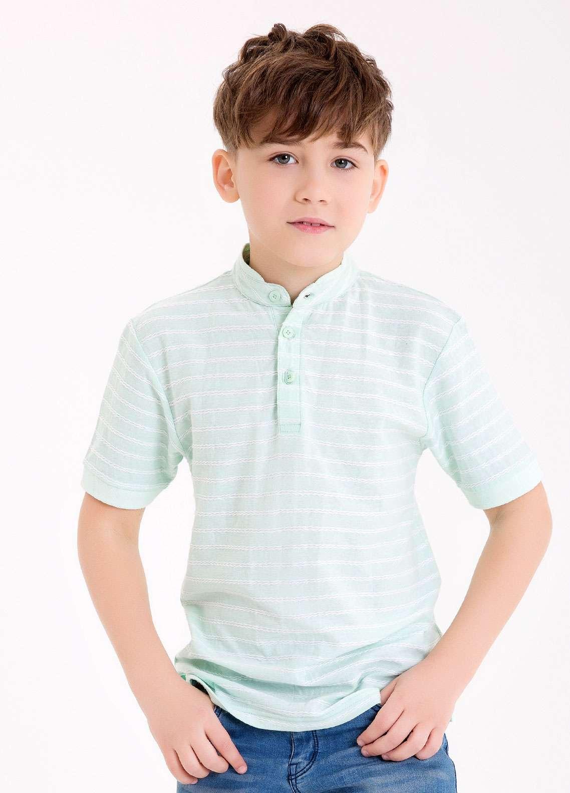 Edenrobe Cotton Polo Boys Shirts - Sea Green EDK18PS 017