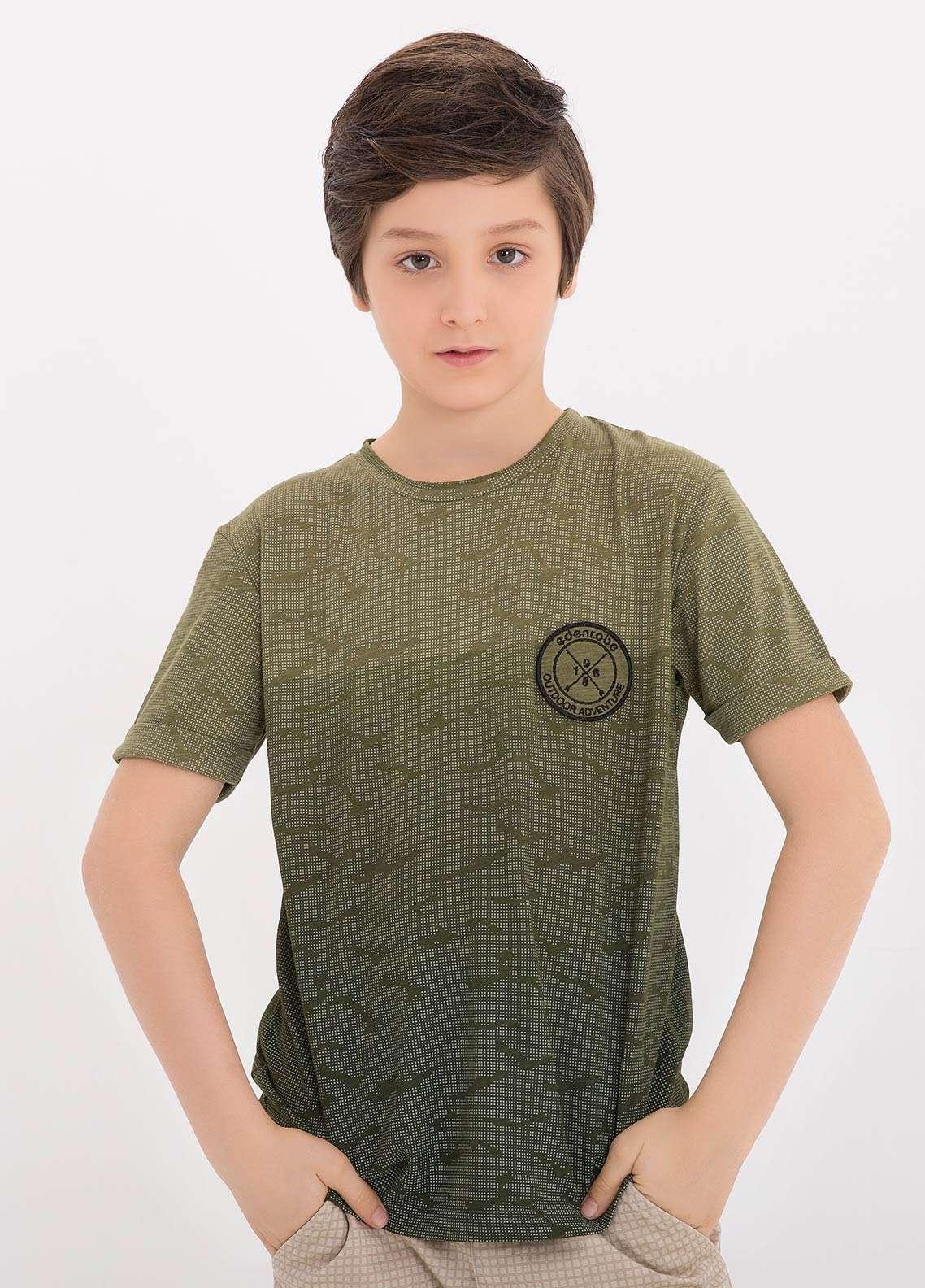 0f9dc2f0f Edenrobe Cotton Casual Boys T-Shirts - Green EDK18TS 003