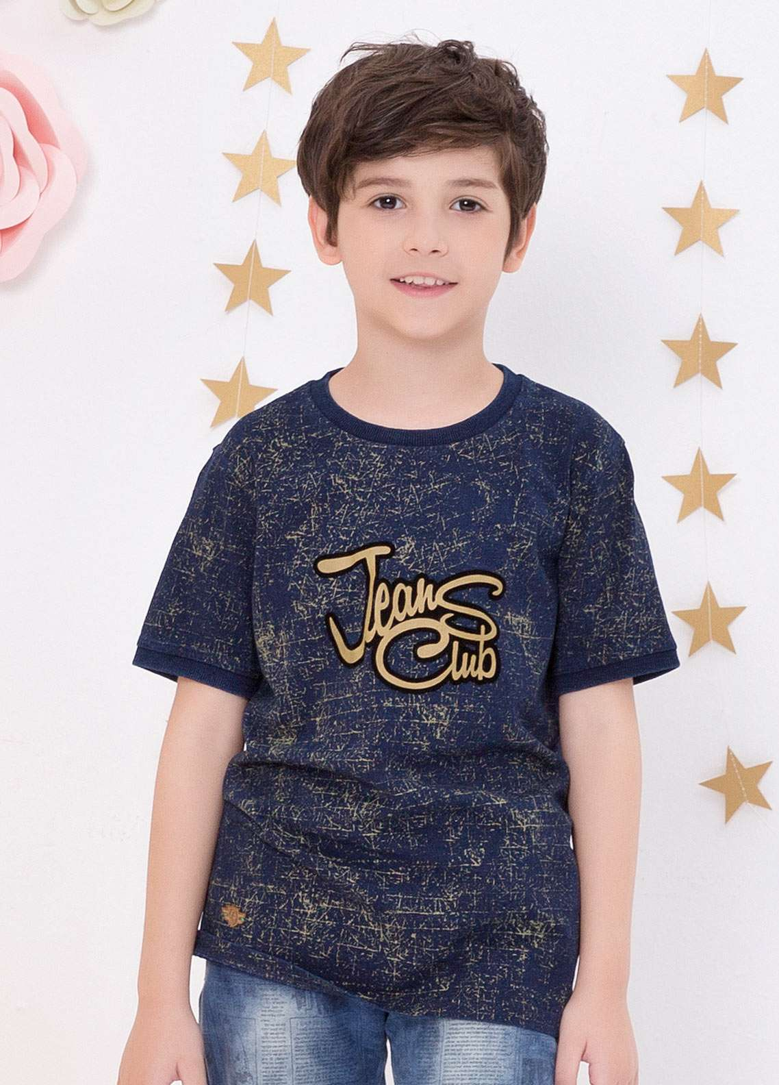 8c5ecc979 Edenrobe Cotton Casual T-Shirts for Boys - Navy Blue EDK18TS 2421