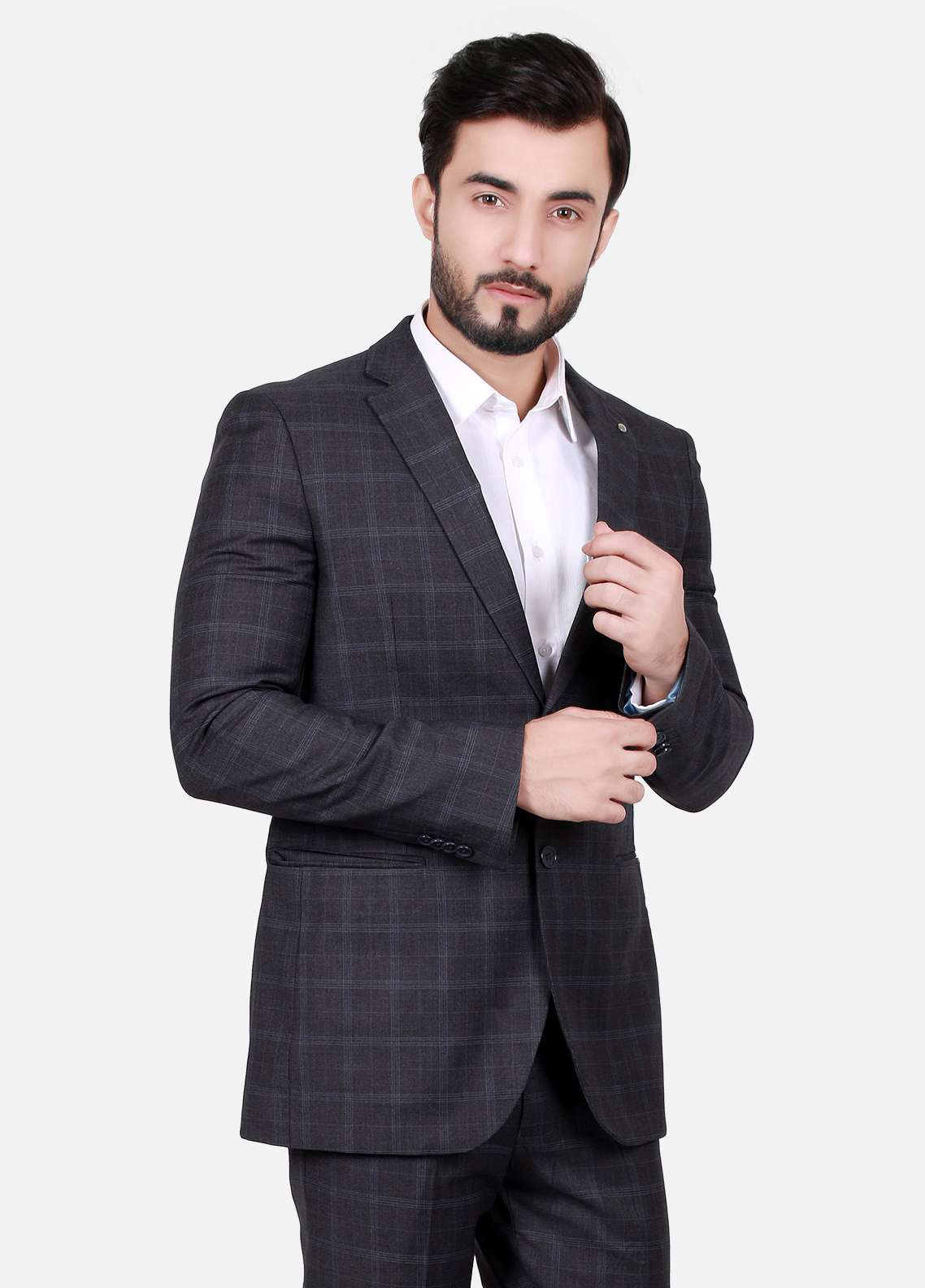 Edenrobe Cotton Formal Suits for Men - Black EDM18FS 8076