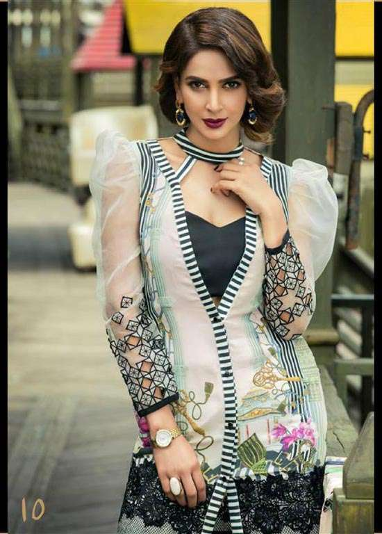 Erum Khan By Zohan Embroidered Chiffon Unstitched 3 Piece Suit EK17E2 10