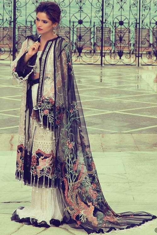 Elan Embroidered Chiffon Unstitched 3 Piece Suit El17E Sehzade