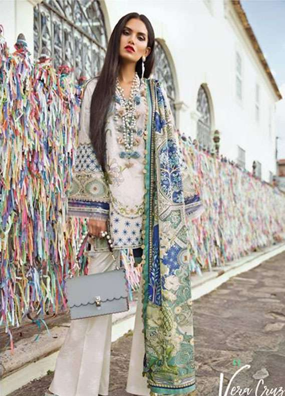8ddc509e49 Elan Embroidered Lawn Unstitched 3 Piece Suit EL18L 6B - Spring / Summer  Collection