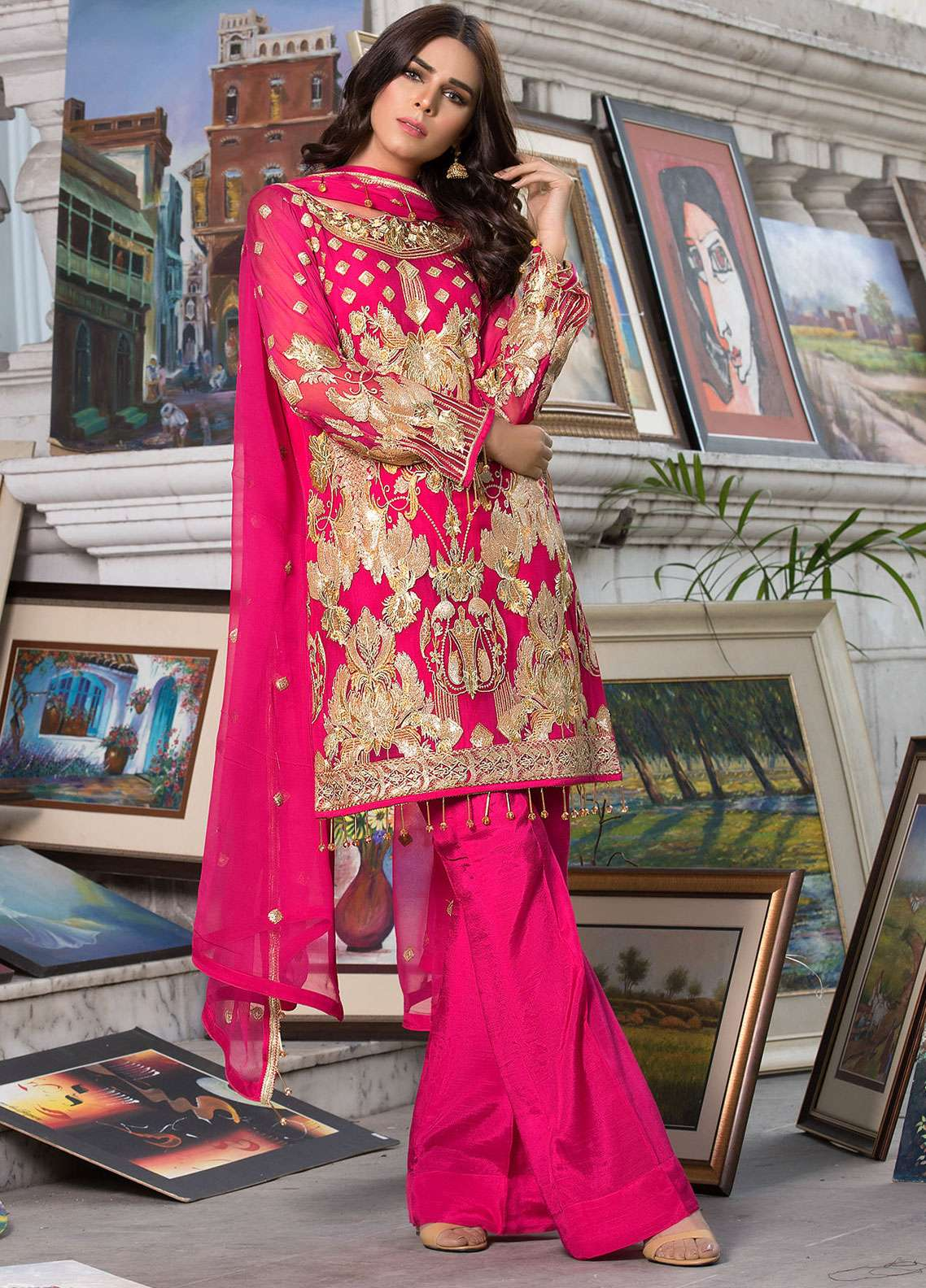 Elaf Embroidered Chiffon Unstitched 3 Piece Suit ELF19C 07 - Luxury Collection
