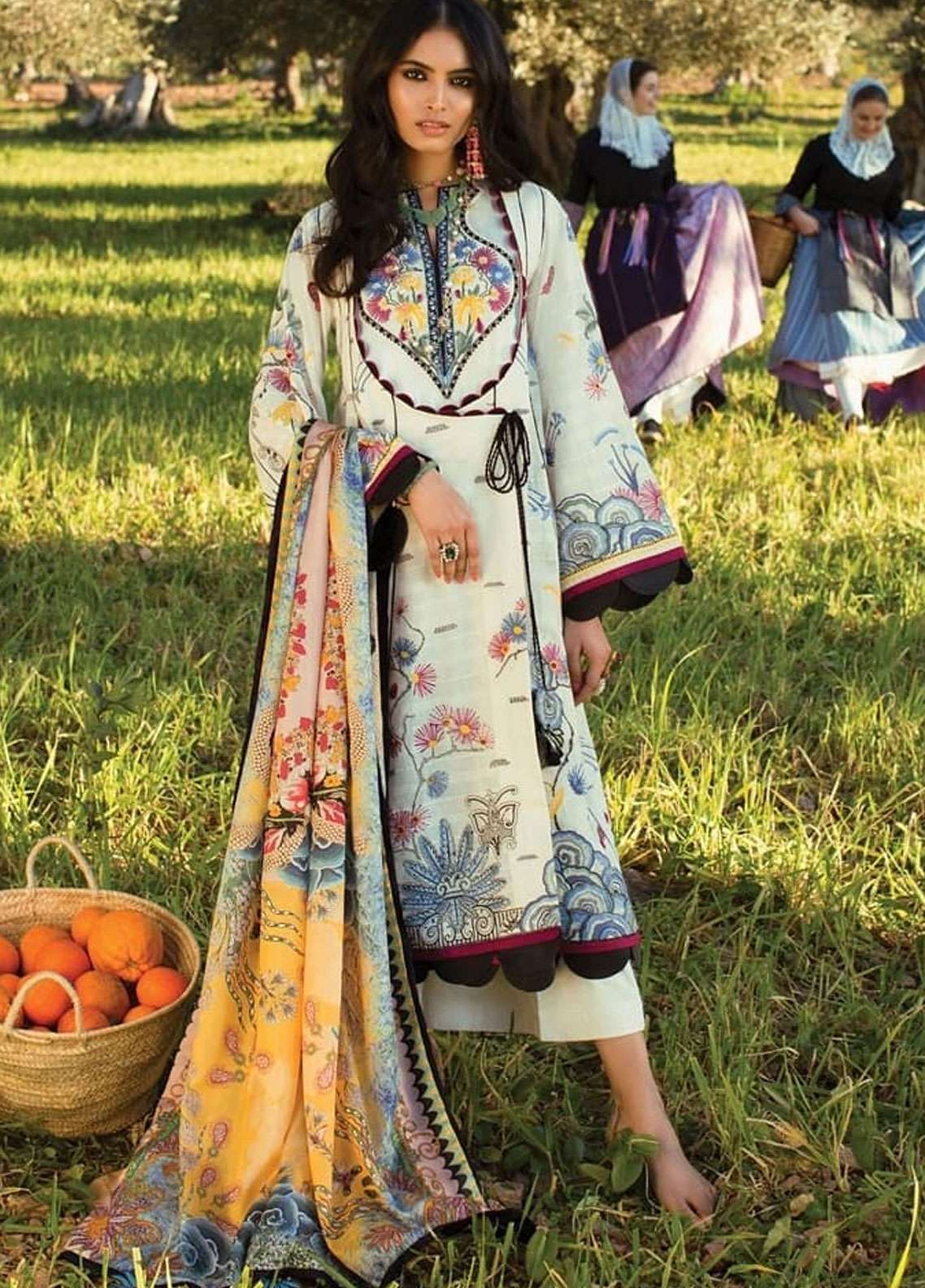 1ca6901fa4 Elan Embroidered Lawn Unstitched 3 Piece Suit EL19L 10B FANTASIA - Spring /  Summer Collection