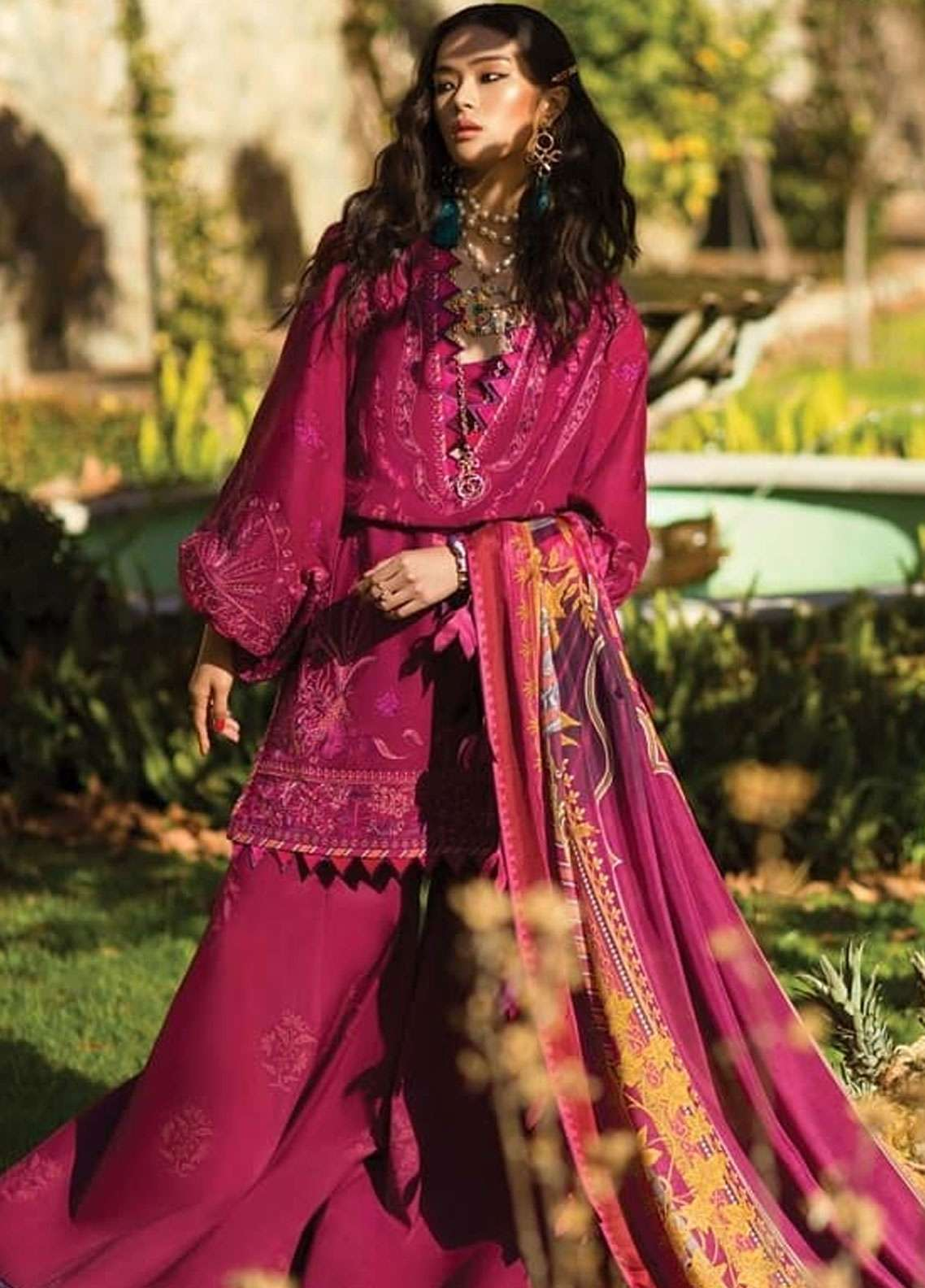 Elan Embroidered Lawn Unstitched 3 Piece Suit EL19L 12A LUJURIA - Spring / Summer Collection