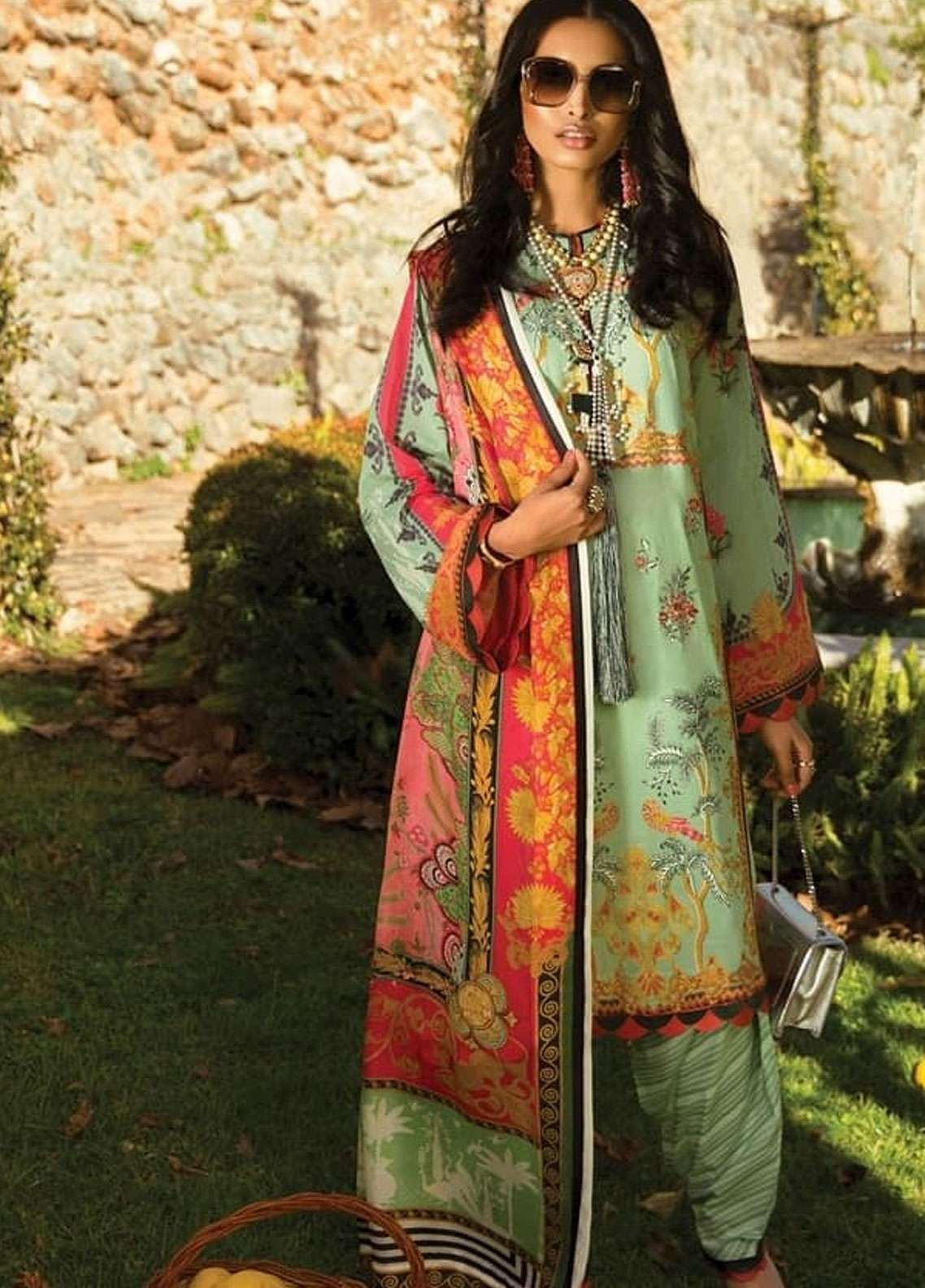 Elan Embroidered Lawn Unstitched 3 Piece Suit EL19L 13A ENCANTANDA - Spring / Summer Collection