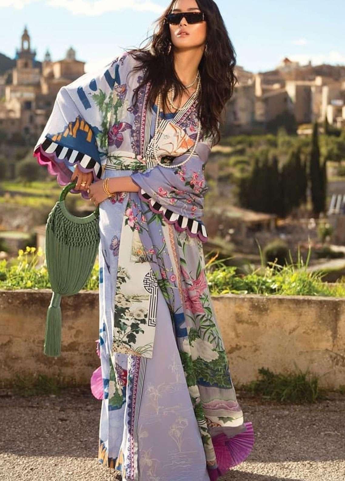 Elan Embroidered Lawn Unstitched 3 Piece Suit EL19L 5B SERENIDAD - Spring / Summer Collection