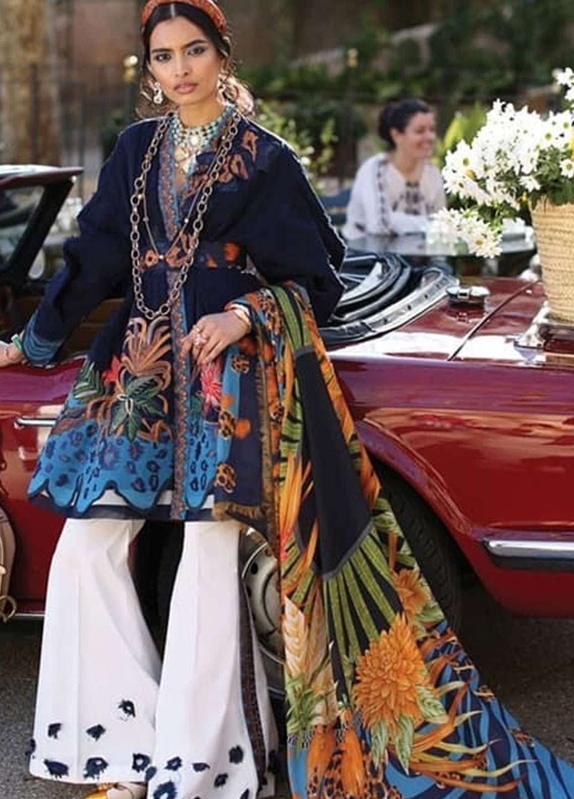 Elan Embroidered Lawn Unstitched 3 Piece Suit EL19L 8B SELVA - Spring / Summer Collection