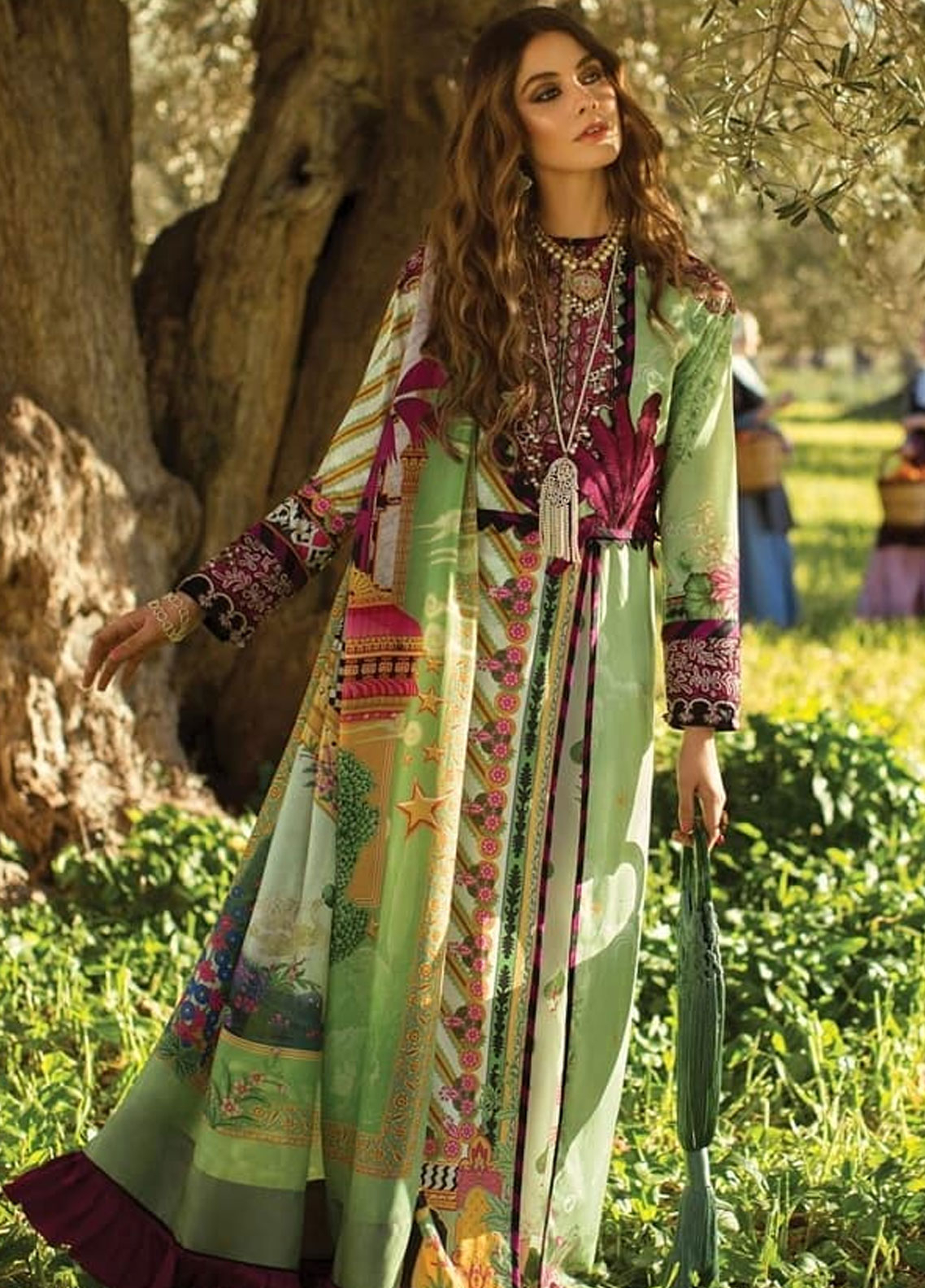 Elan Embroidered Lawn Unstitched 3 Piece Suit EL19L 9A VIVIR - Spring / Summer Collection