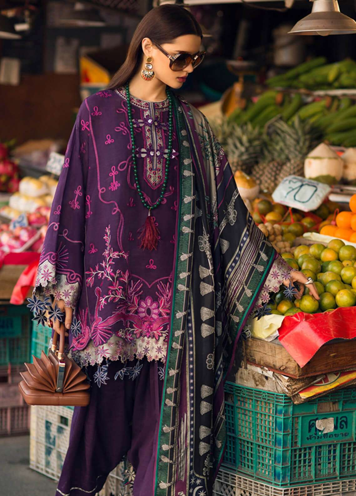 Elan Embroidered Silk Unstitched 3 Piece Suit EL18W Kluai Mai - Winter Collection