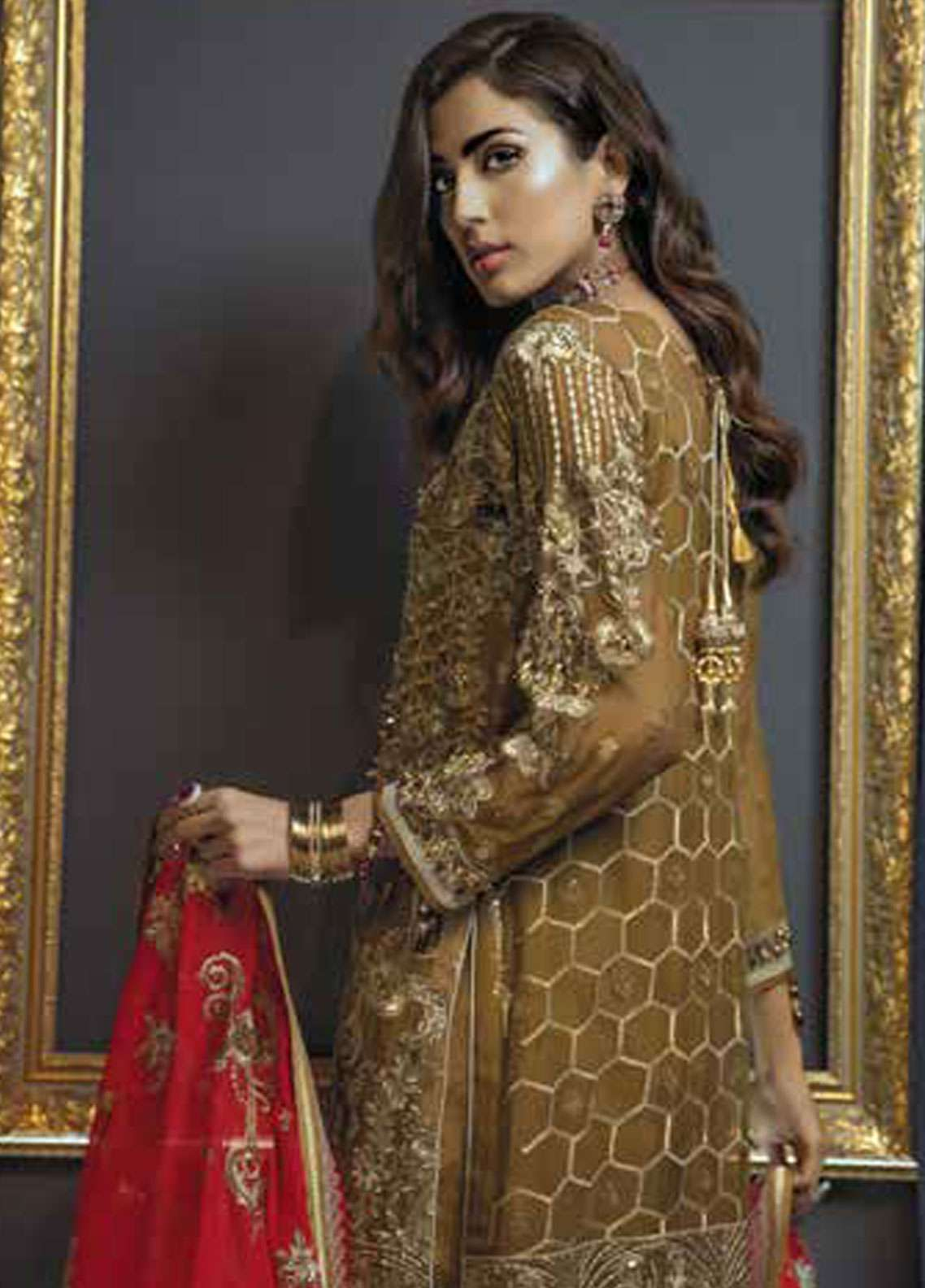 5509920d25 ... Emaan Adeel Embroidered Chiffon Unstitched 3 Piece Suit EA19C 103 RED  CARAT - Luxury Collection. < Previous Next > · hover