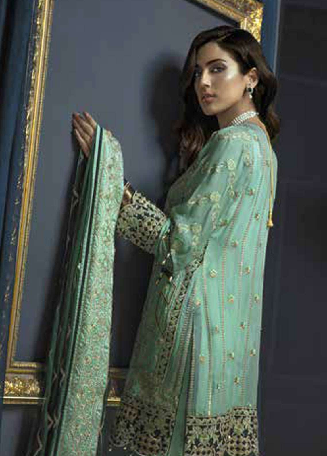 a8616b750a Emaan Adeel Embroidered Chiffon Unstitched 3 Piece Suit EA19C 104 LUSH  CHARMS ...