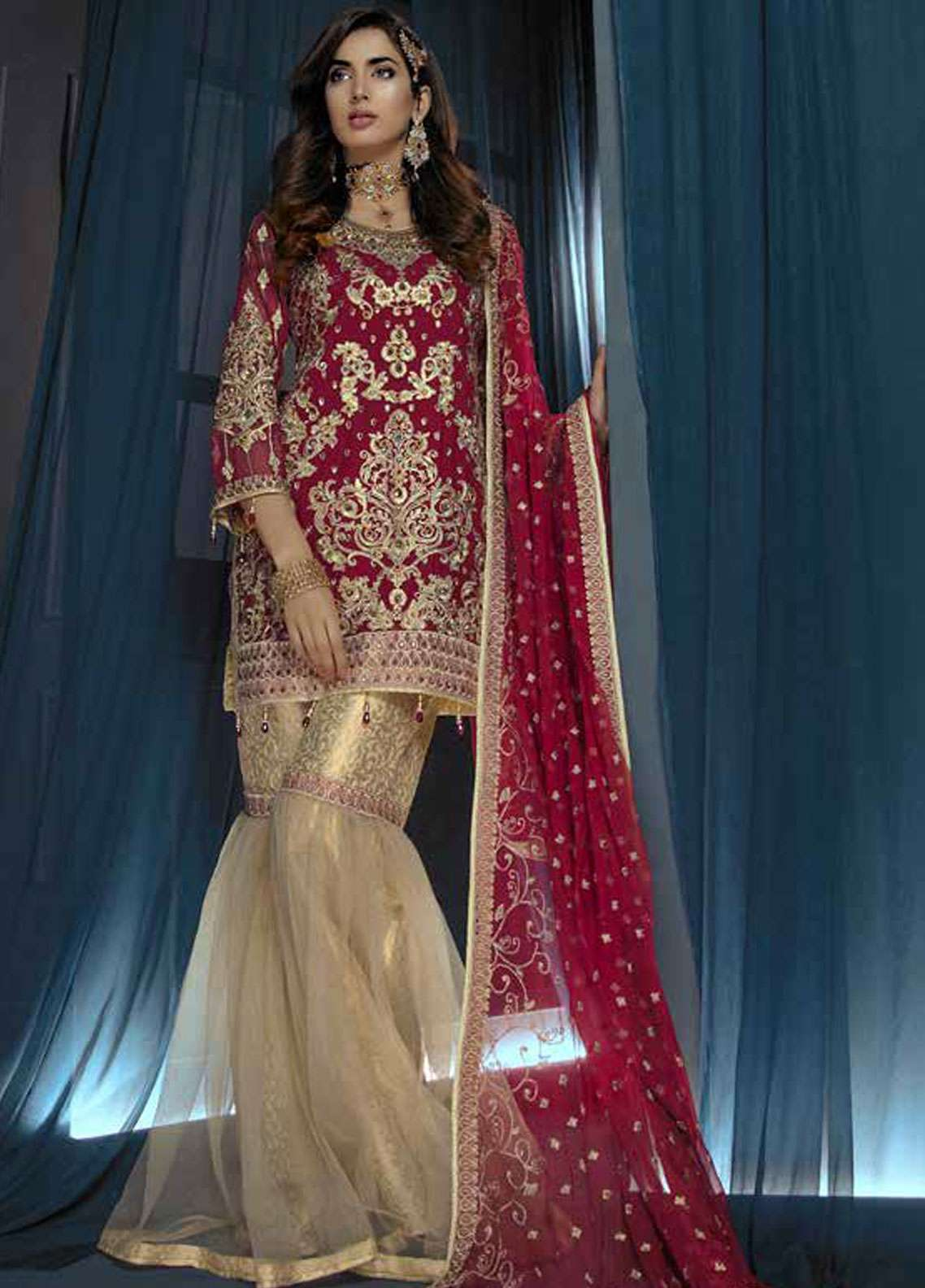 Emaan Adeel Embroidered Chiffon Unstitched 3 Piece Suit EA19C 107 GILDED YOUTH - Luxury Collection