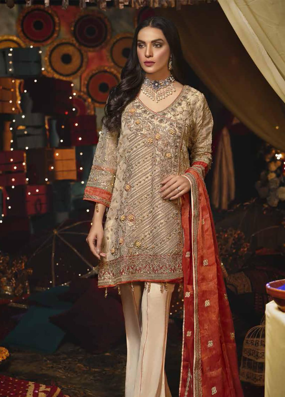 Emaan Adeel Embroidered Missouri Unstitched 3 Piece Suit EA19-C6 601 - Luxury Collection