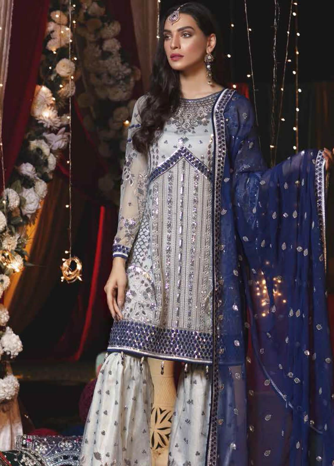 5cce62aa0f Emaan Adeel Embroidered Chiffon Unstitched 3 Piece Suit EA19-C6 602 - Luxury  Collection