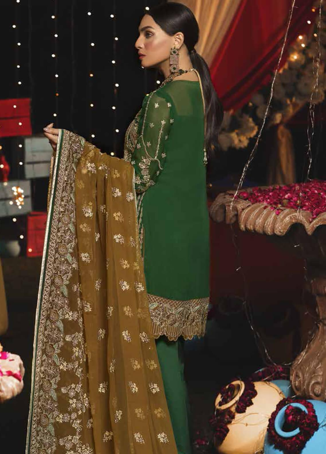 2d7cc1ff65 Emaan Adeel Embroidered Chiffon Unstitched 3 Piece Suit EA19-C6 609 - Luxury  Collection