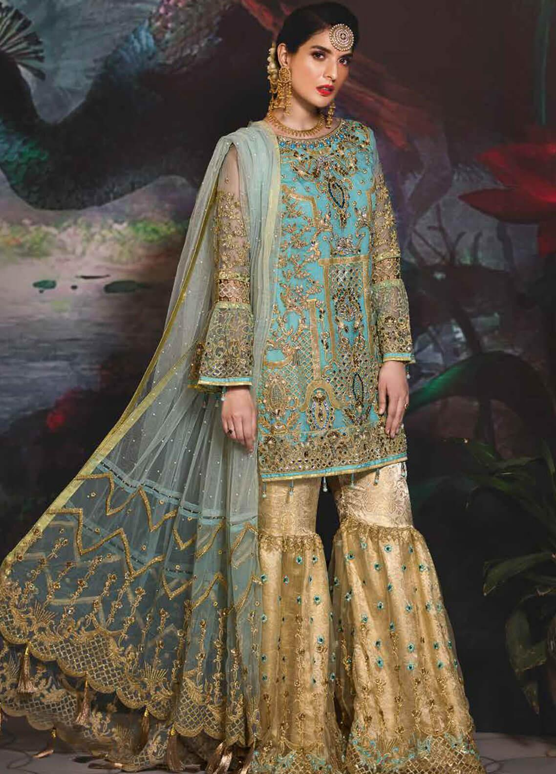 Emaan Adeel Embroidered Chiffon Unstitched 3 Piece Suit EA19-C7 706 - Festive Collection