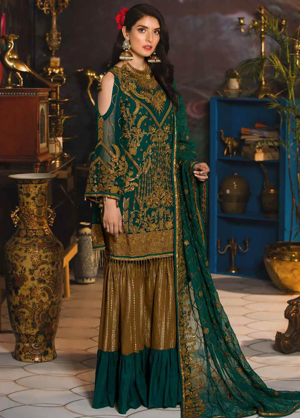 Emaan Adeel Embroidered Chiffon Unstitched 3 Piece Suit EA19-C7 710 - Festive Collection