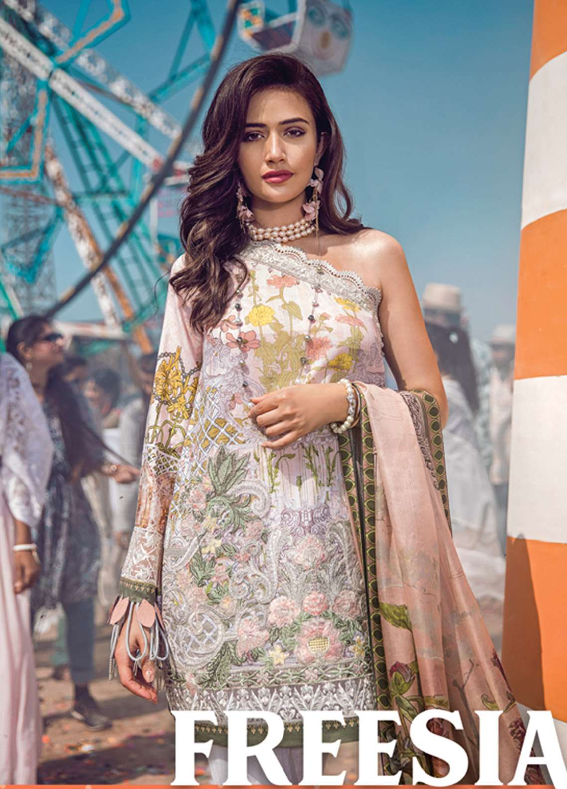 Epoque By Sana Yasir Embroidered Lawn Unstitched 3 Piece Suit EP18L 01 - Spring / Summer Collection