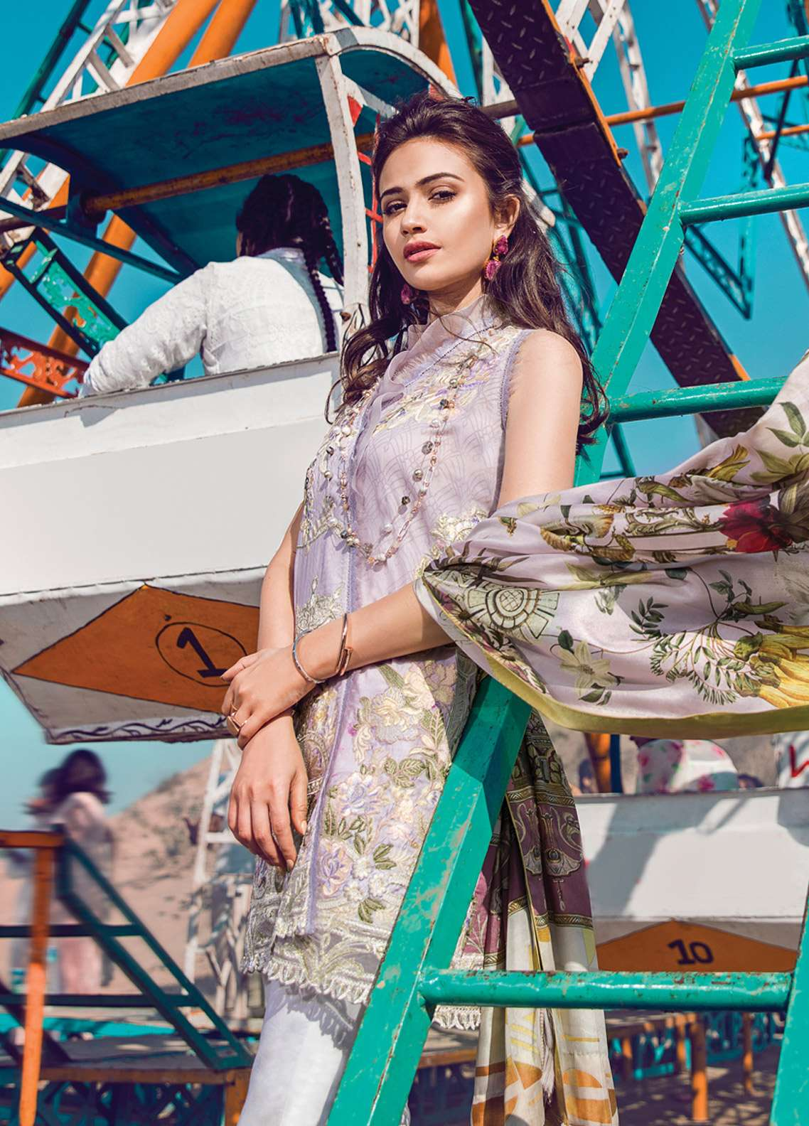 Epoque By Sana Yasir Embroidered Lawn Unstitched 3 Piece Suit EP18L 02 - Spring / Summer Collection