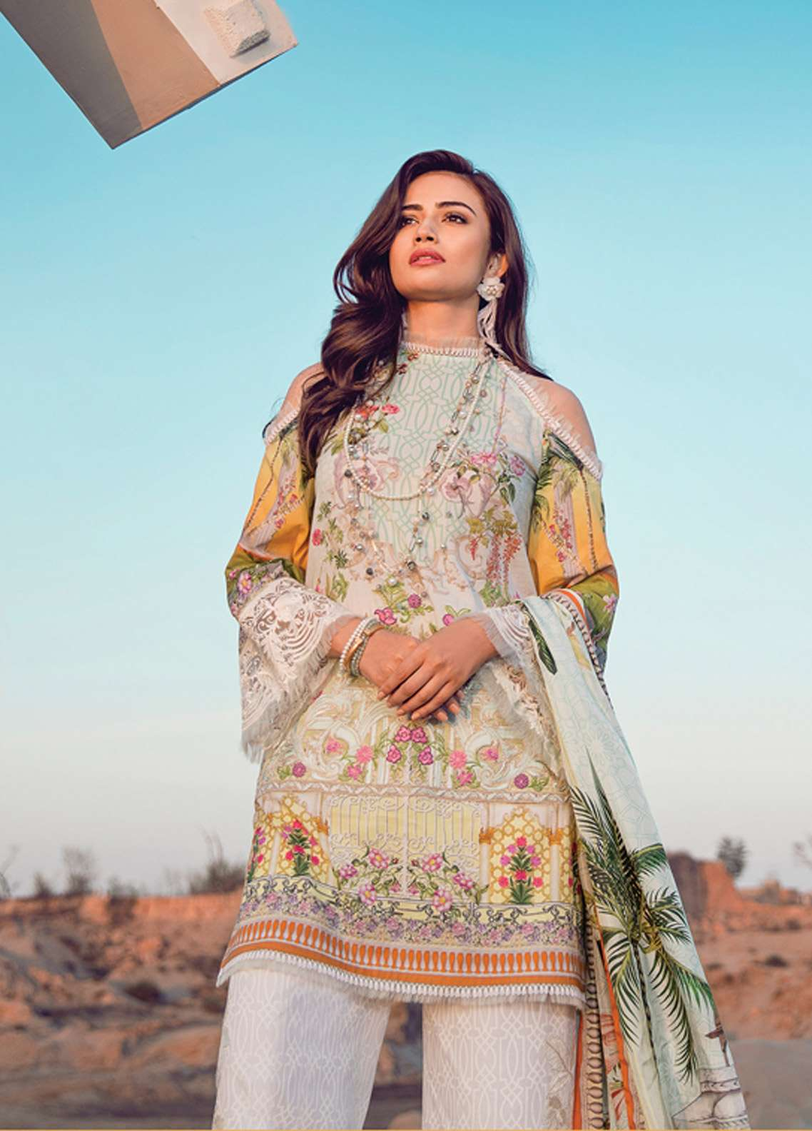 Epoque By Sana Yasir Embroidered Lawn Unstitched 3 Piece Suit EP18L 05 - Spring / Summer Collection