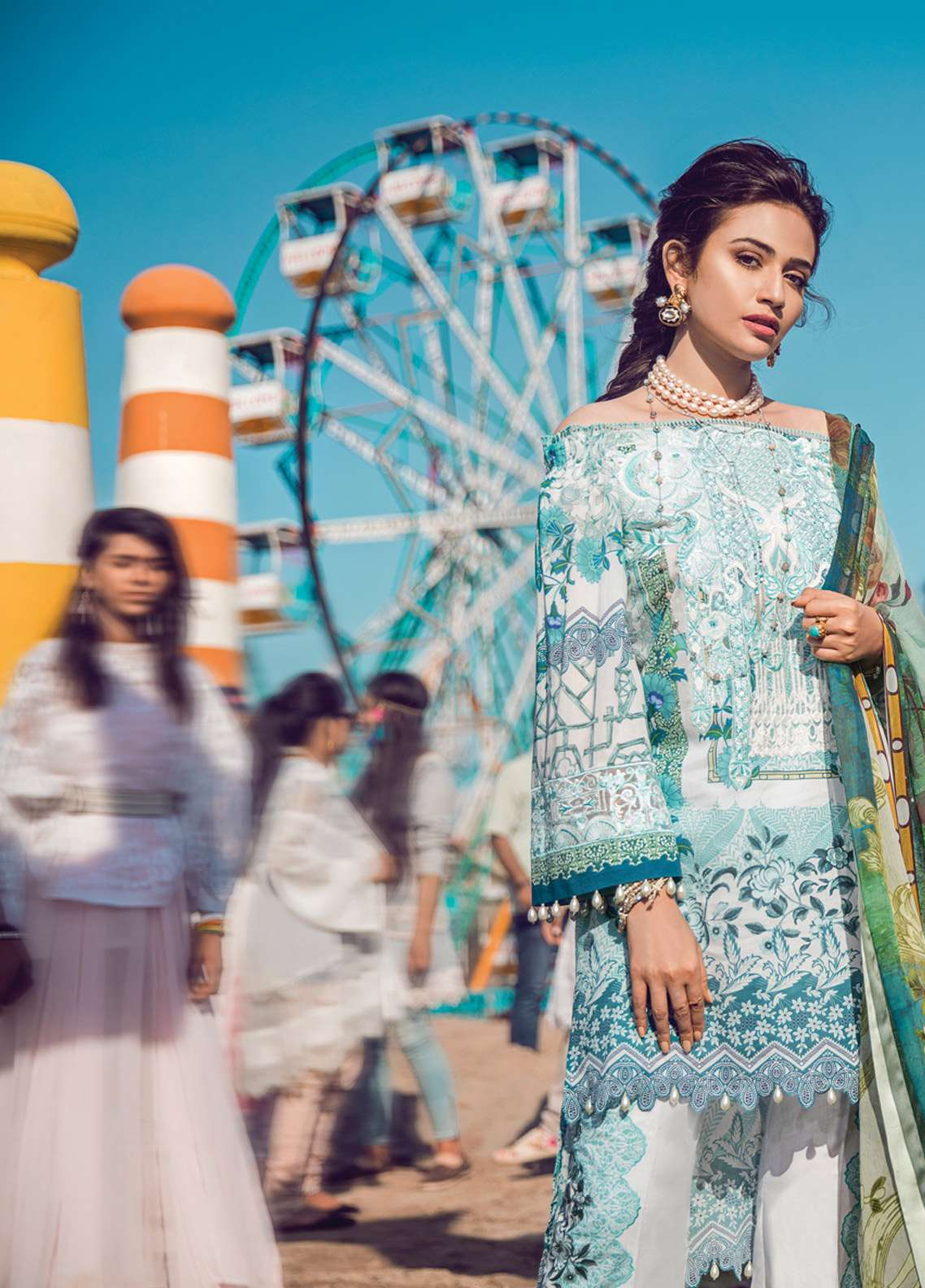 Epoque By Sana Yasir Embroidered Lawn Unstitched 3 Piece Suit EP18L 06 - Spring / Summer Collection